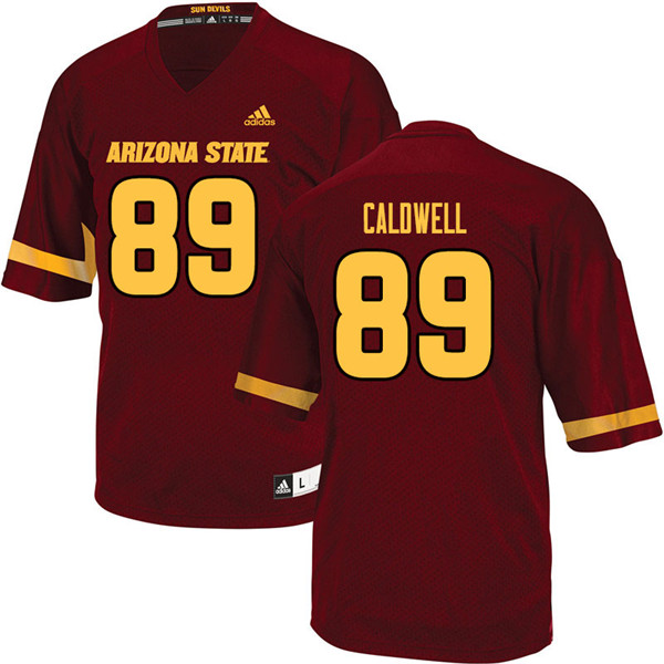 Men #89 Jarick Caldwell Arizona State Sun Devils College Football Jerseys Sale-Maroon