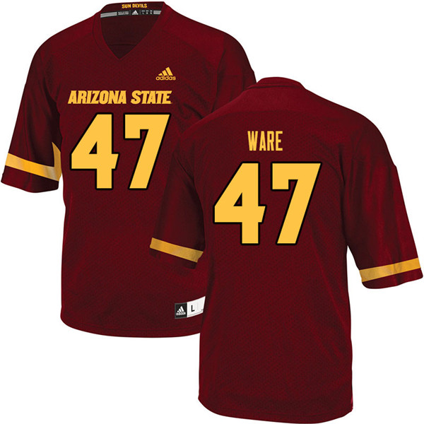 Men #47 Jordan Ware Arizona State Sun Devils College Football Jerseys Sale-Maroon