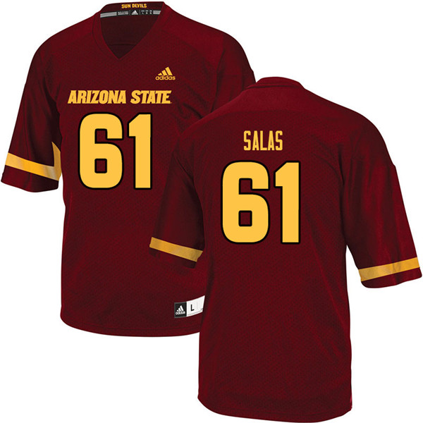 Men #61 Marco Salas Arizona State Sun Devils College Football Jerseys Sale-Maroon