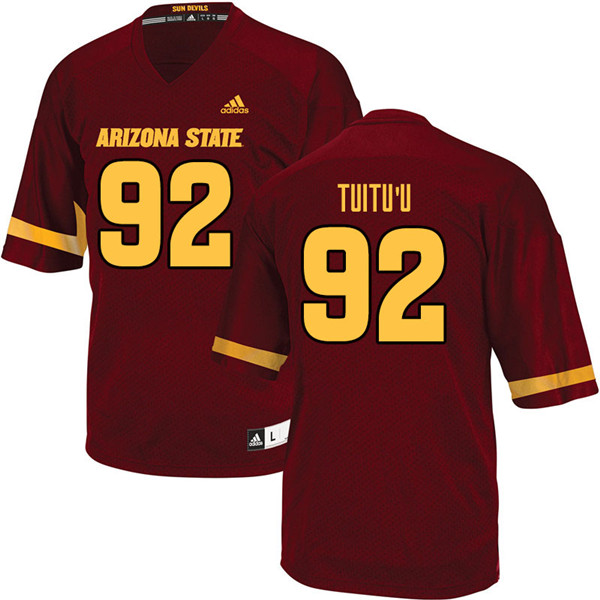 Men #92 Nami Tuitu'u Arizona State Sun Devils College Football Jerseys Sale-Maroon