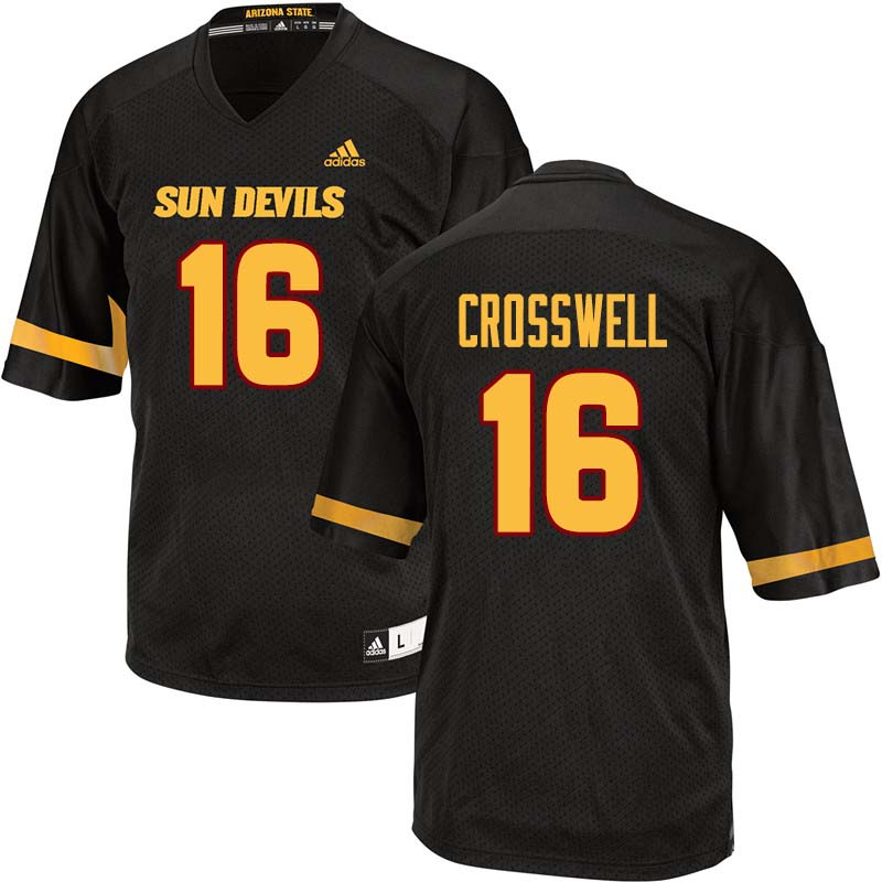 Men #16 Aashari Crosswell Arizona State Sun Devils College Football Jerseys Sale-Black