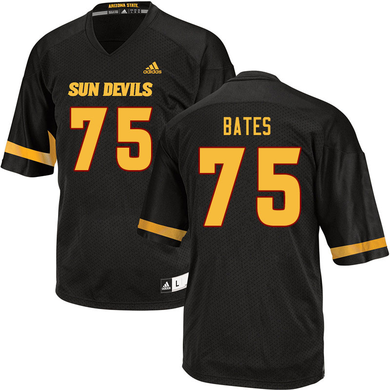 Men #75 Alijah Bates Arizona State Sun Devils College Football Jerseys Sale-Black