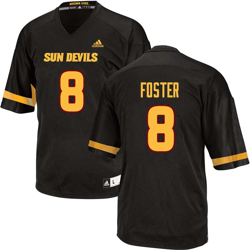 Men #8 D.J. Foster Arizona State Sun Devils College Football Jerseys Sale-Black