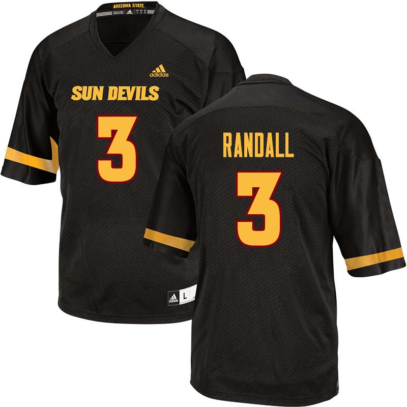 Men #3 Damarious Randall Arizona State Sun Devils College Football Jerseys Sale-Black