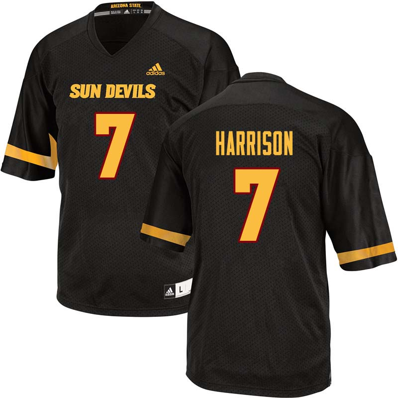 Men #7 Dominique Harrison Arizona State Sun Devils College Football Jerseys Sale-Black