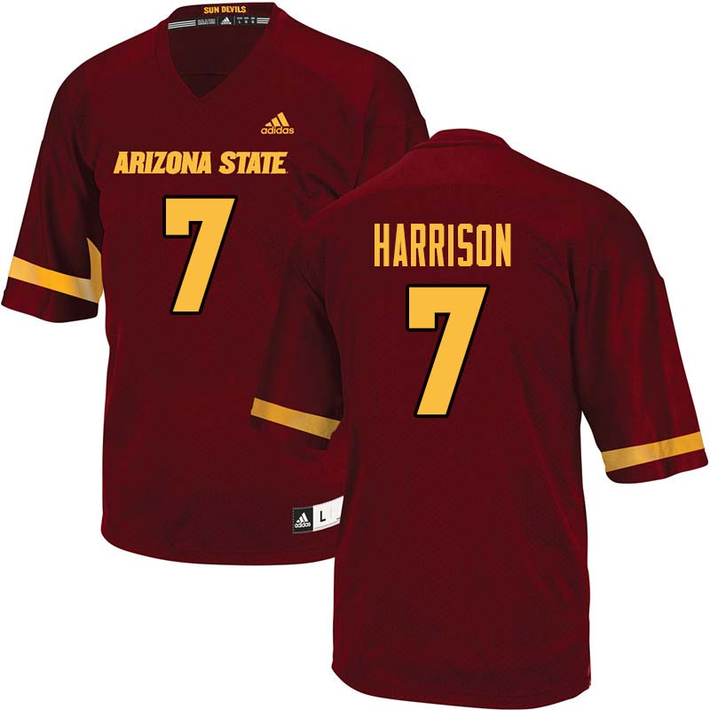 Men #7 Dominique Harrison Arizona State Sun Devils College Football Jerseys Sale-Maroon
