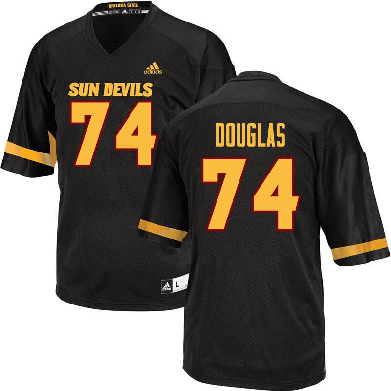 Men #74 Jamil Douglas Arizona State Sun Devils College Football Jerseys Sale-Black