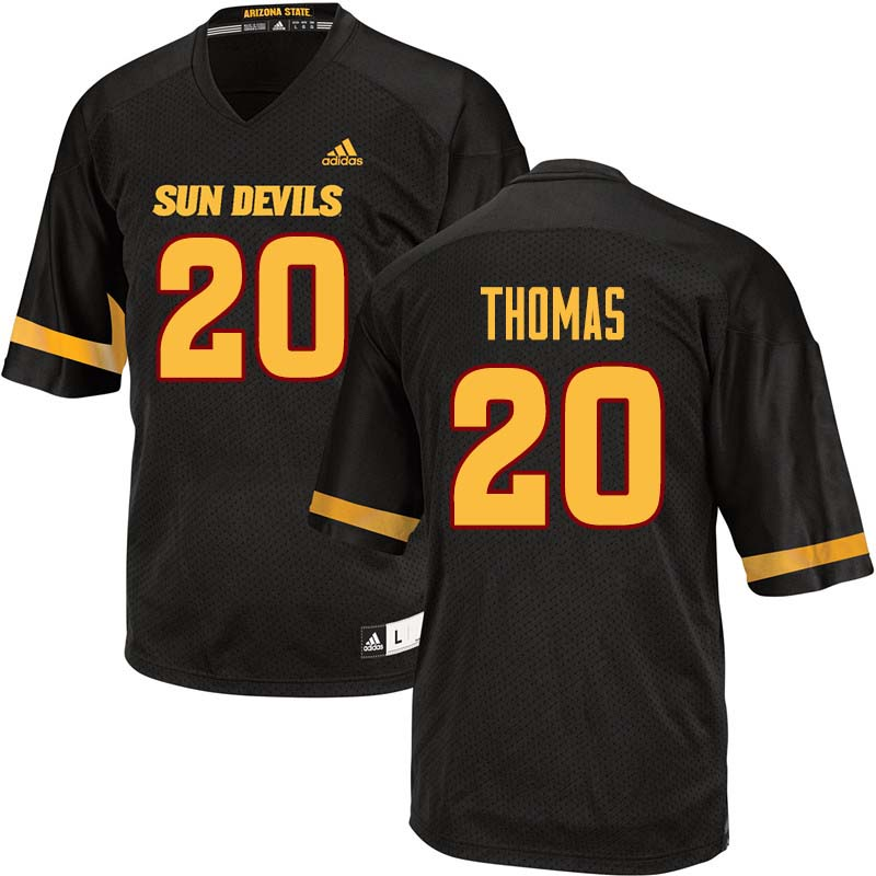 Men #20 Khaylan Thomas Arizona State Sun Devils College Football Jerseys Sale-Black