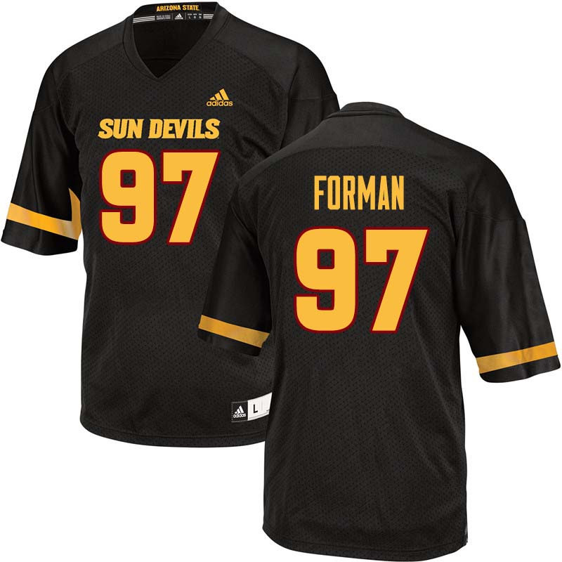 Men #97 Shannon Forman Arizona State Sun Devils College Football Jerseys Sale-Black