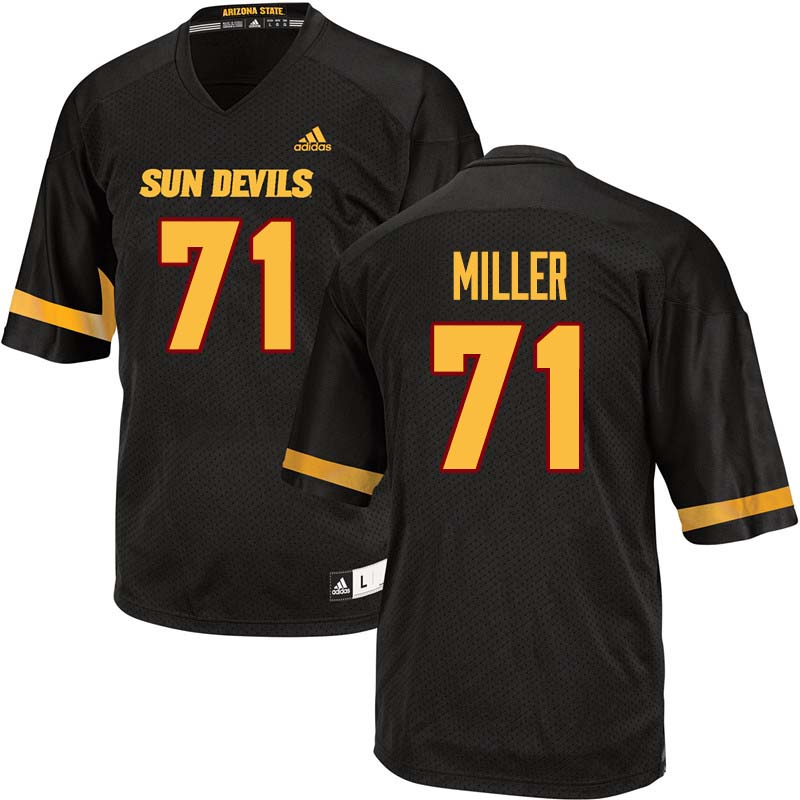Men #71 Steven Miller Arizona State Sun Devils College Football Jerseys Sale-Black