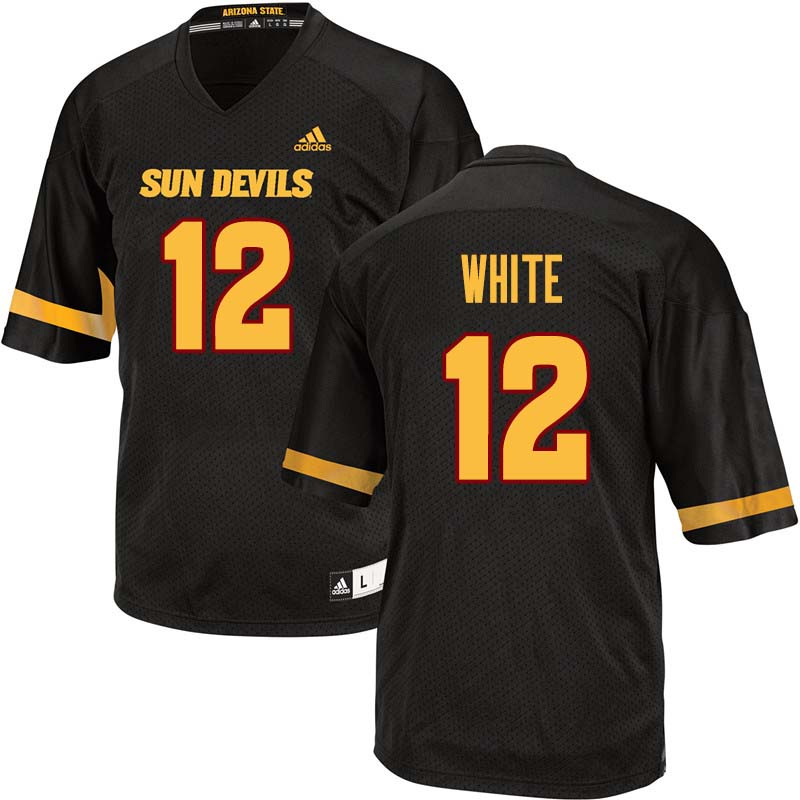 Men #12 Tim White Arizona State Sun Devils College Football Jerseys Sale-Black