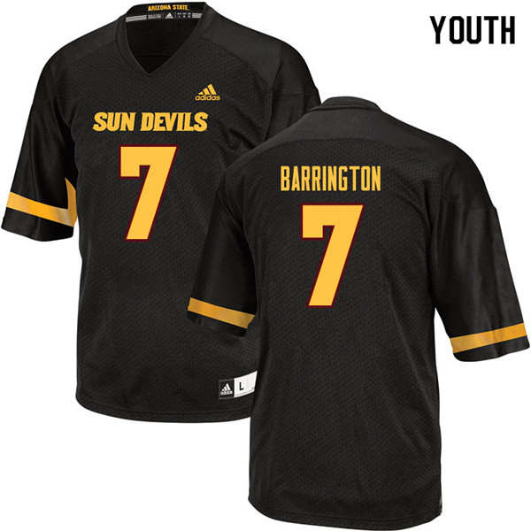 Youth #7 Beau Barrington Arizona State Sun Devils College Football Jerseys Sale-Black