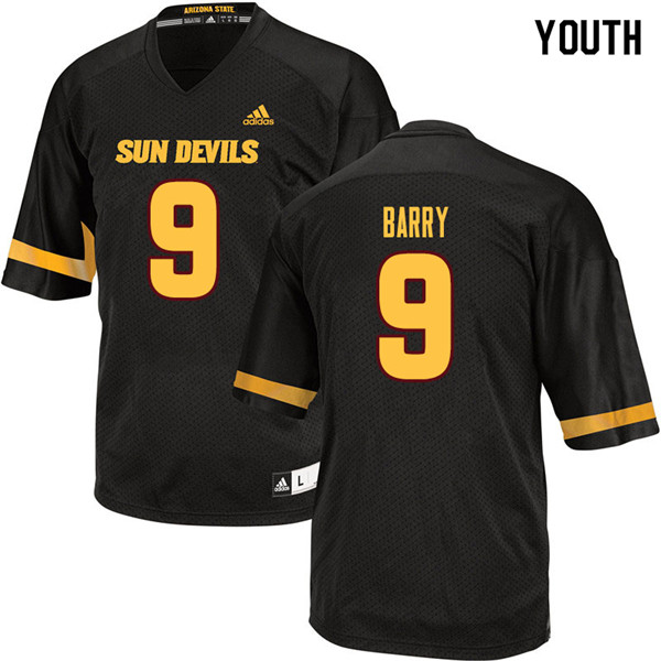 Youth #9 Grayson Barry Arizona State Sun Devils College Football Jerseys Sale-Black