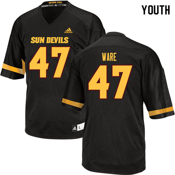 Youth #47 Jordan Ware Arizona State Sun Devils College Football Jerseys Sale-Black