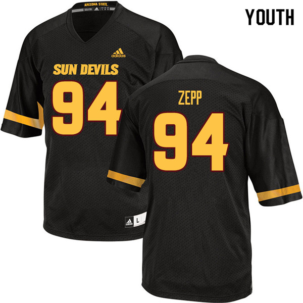 Youth #94 Joseph Zepp Arizona State Sun Devils College Football Jerseys Sale-Black