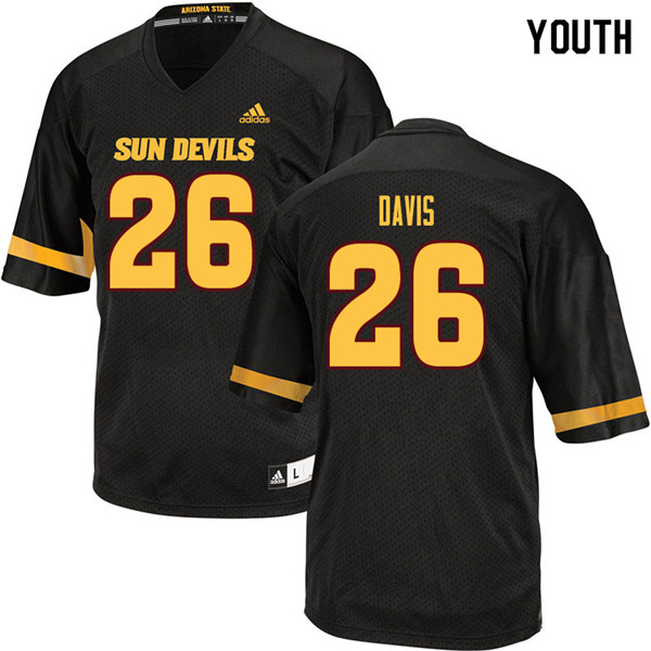Youth #26 Keith Davis Arizona State Sun Devils College Football Jerseys Sale-Black