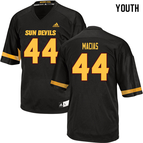 Youth #44 Kevin Macias Arizona State Sun Devils College Football Jerseys Sale-Black