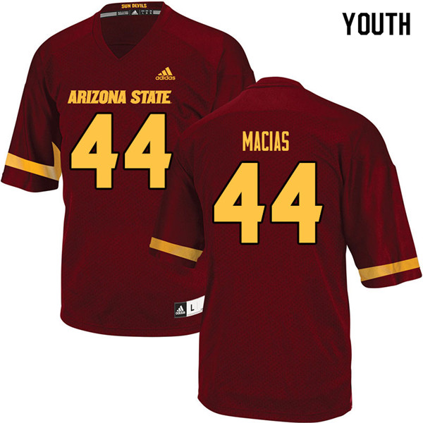 Youth #44 Kevin Macias Arizona State Sun Devils College Football Jerseys Sale-Maroon