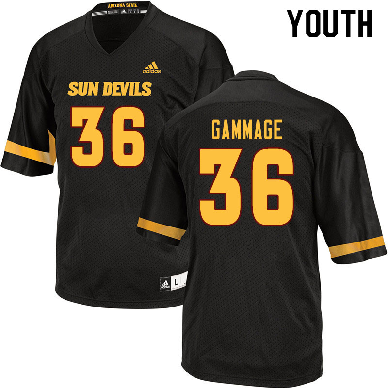 Youth #36 Alijah Gammage Arizona State Sun Devils College Football Jerseys Sale-Black