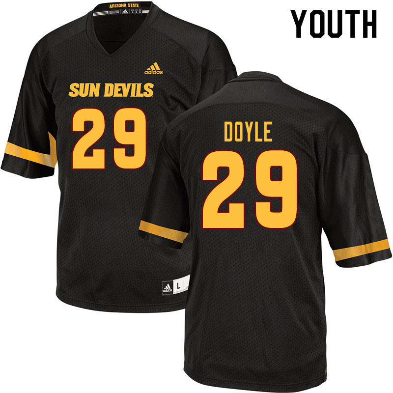 Youth #29 Ely Doyle Arizona State Sun Devils College Football Jerseys Sale-Black