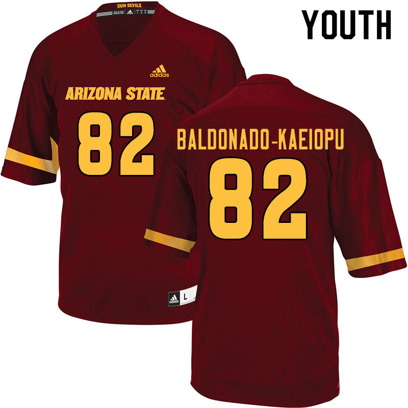 Youth #82 Tyerell Baldonado-Kaeiopu Arizona State Sun Devils College Football Jerseys Sale-Maroon