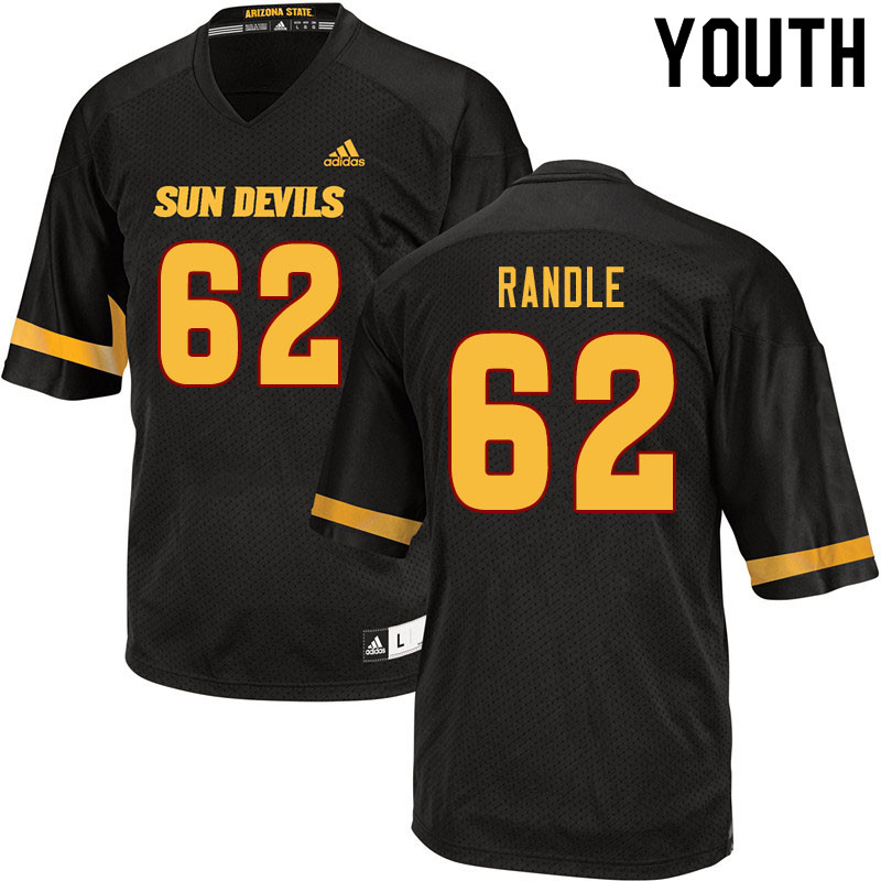 Youth #62 Alexander Randle Arizona State Sun Devils College Football Jerseys Sale-Black