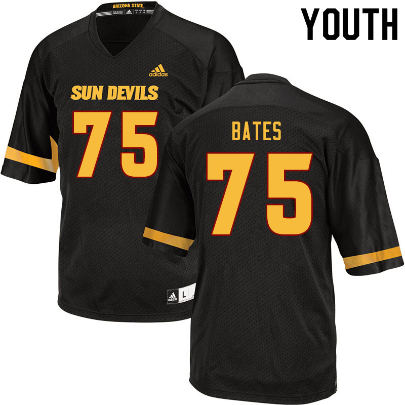 Youth #75 Alijah Bates Arizona State Sun Devils College Football Jerseys Sale-Black