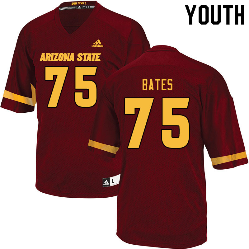 Youth #75 Alijah Bates Arizona State Sun Devils College Football Jerseys Sale-Maroon