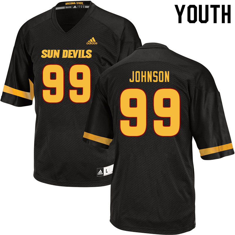 Youth #99 Amiri Johnson Arizona State Sun Devils College Football Jerseys Sale-Black