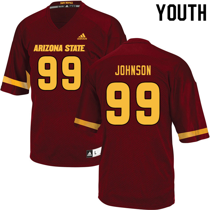 Youth #99 Amiri Johnson Arizona State Sun Devils College Football Jerseys Sale-Maroon