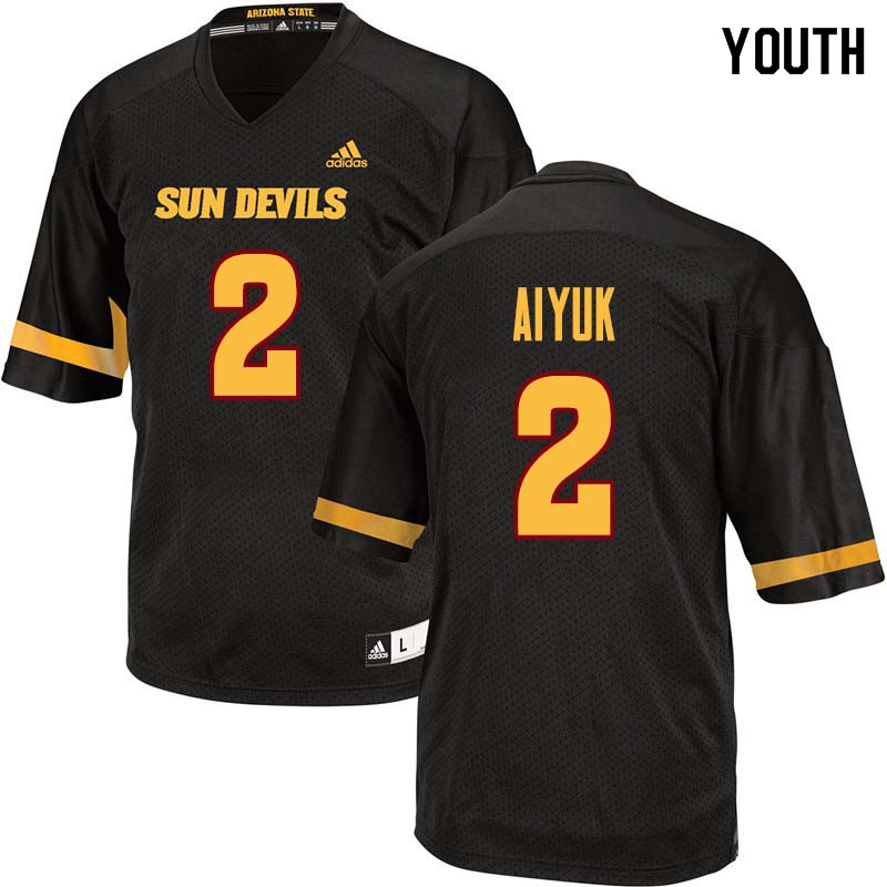 Youth #2 Brandon Aiyuk Arizona State Sun Devils College Football Jerseys Sale-Black