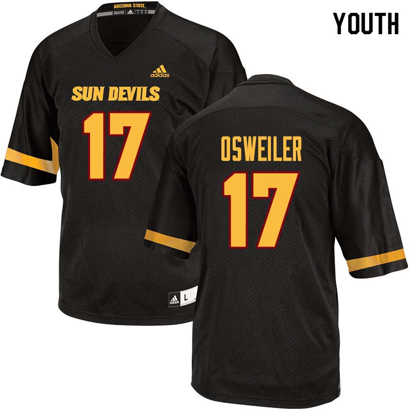 Youth #17 Brock Osweiler Arizona State Sun Devils College Football Jerseys Sale-Black