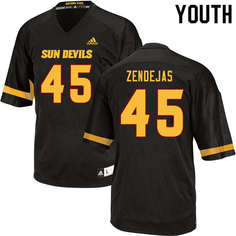 Youth #45 Cristian Zendejas Arizona State Sun Devils College Football Jerseys Sale-Black
