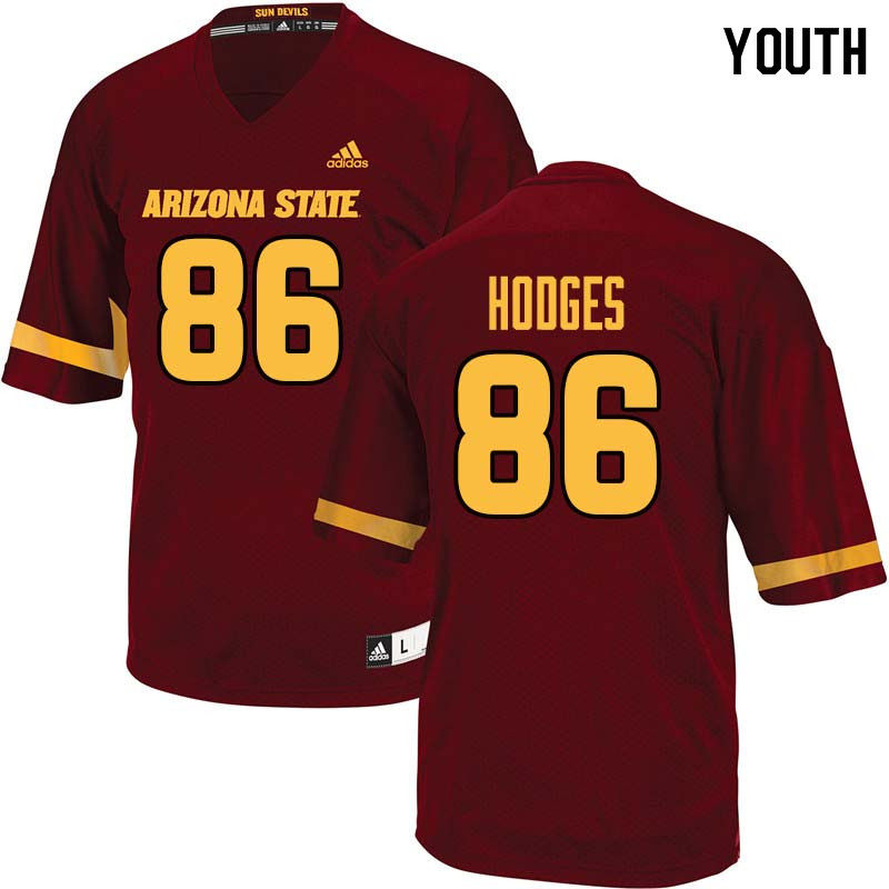 Youth #86 Curtis Hodges Arizona State Sun Devils College Football Jerseys Sale-Maroon