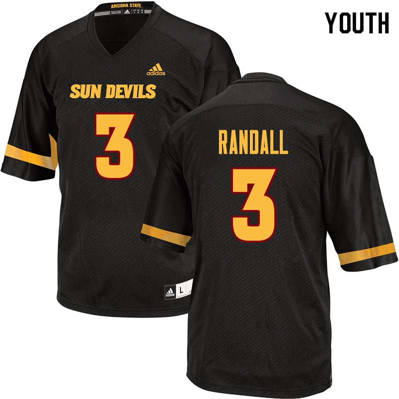Youth #3 Damarious Randall Arizona State Sun Devils College Football Jerseys Sale-Black