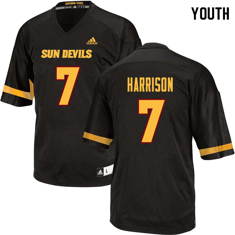 Youth #7 Dominique Harrison Arizona State Sun Devils College Football Jerseys Sale-Black