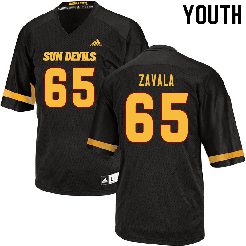 Youth #65 Donato Zavala Arizona State Sun Devils College Football Jerseys Sale-Black
