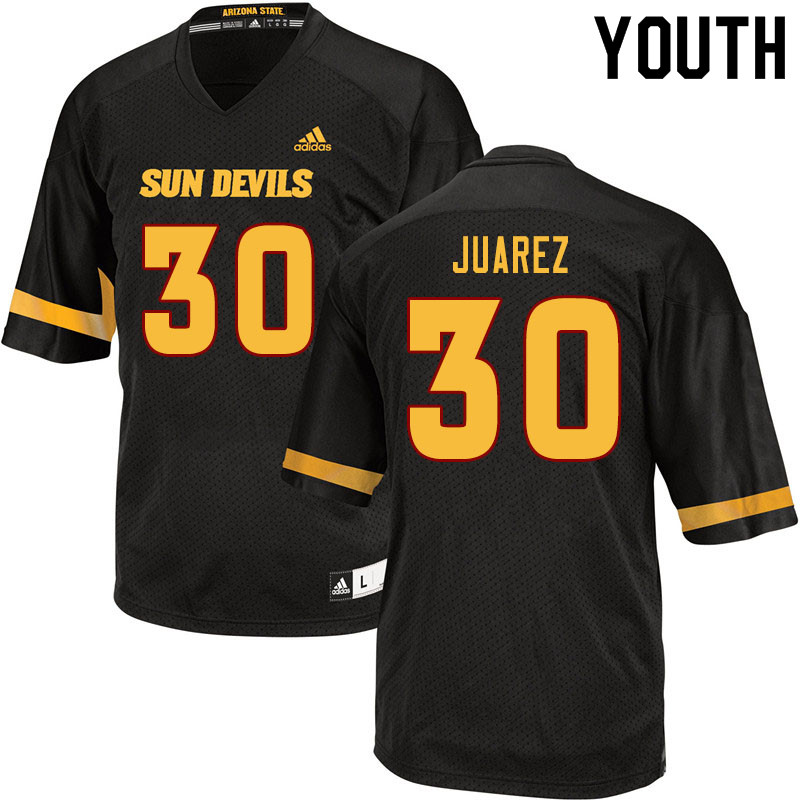 Youth #30 Elijah Juarez Arizona State Sun Devils College Football Jerseys Sale-Black