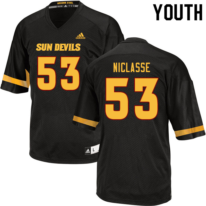 Youth #53 Fritzny Niclasse Arizona State Sun Devils College Football Jerseys Sale-Black