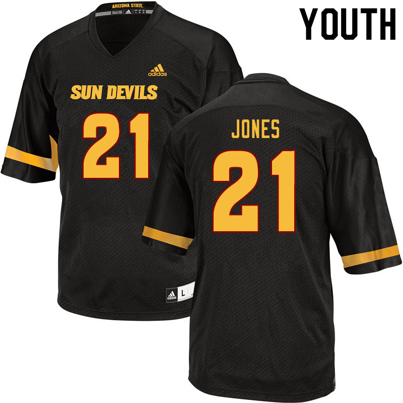 Youth #21 Jack Jones Arizona State Sun Devils College Football Jerseys Sale-Black