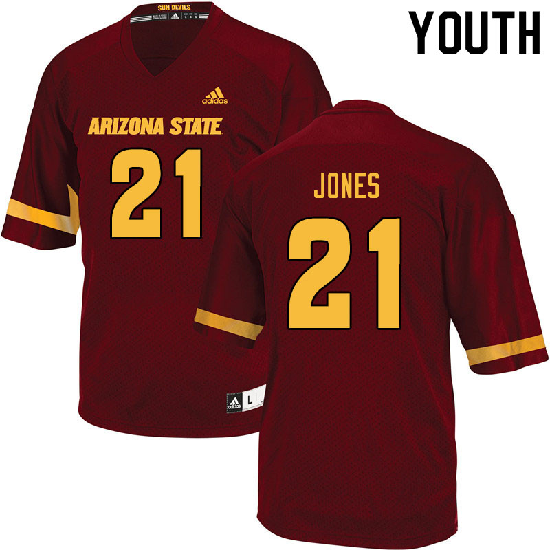 Youth #21 Jack Jones Arizona State Sun Devils College Football Jerseys Sale-Maroon