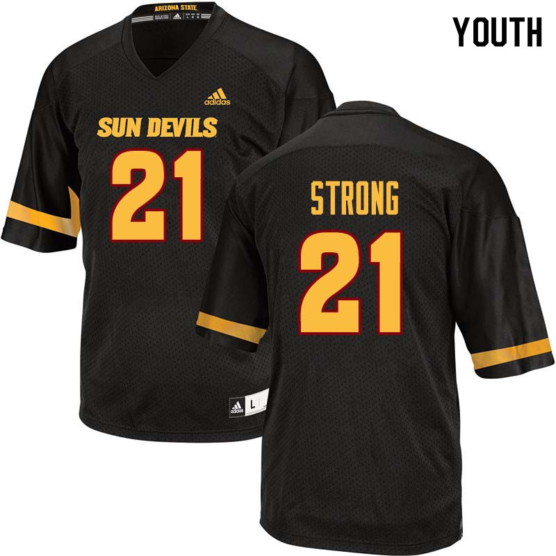 Youth #21 Jaelen Strong Arizona State Sun Devils College Football Jerseys Sale-Black