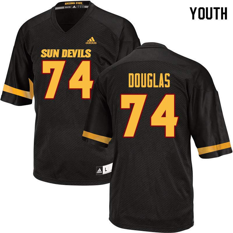 Youth #74 Jamil Douglas Arizona State Sun Devils College Football Jerseys Sale-Black