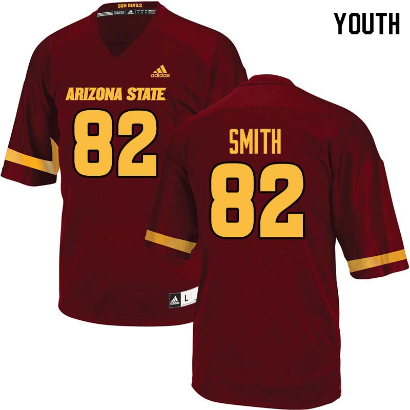 Youth #82 Jeremy Smith Arizona State Sun Devils College Football Jerseys Sale-Maroon