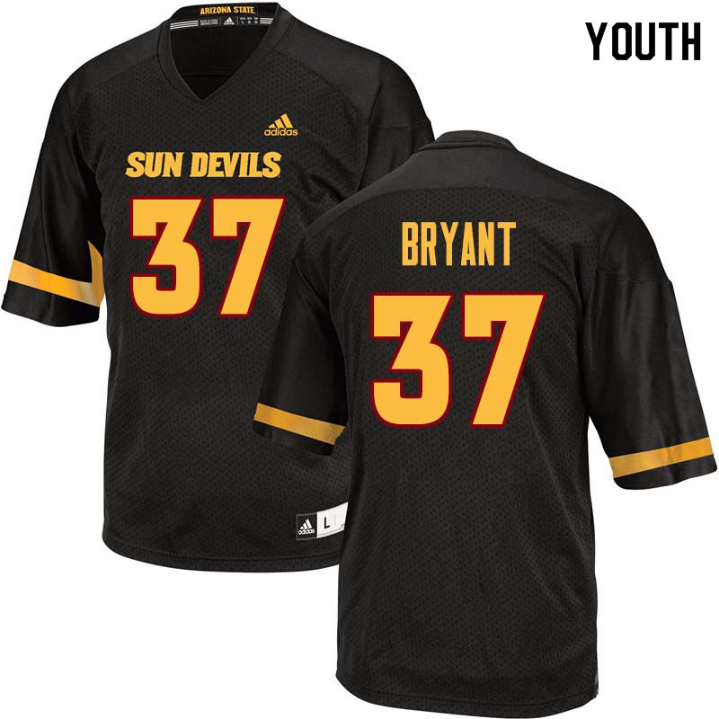 Youth #37 Joey Bryant Arizona State Sun Devils College Football Jerseys Sale-Black