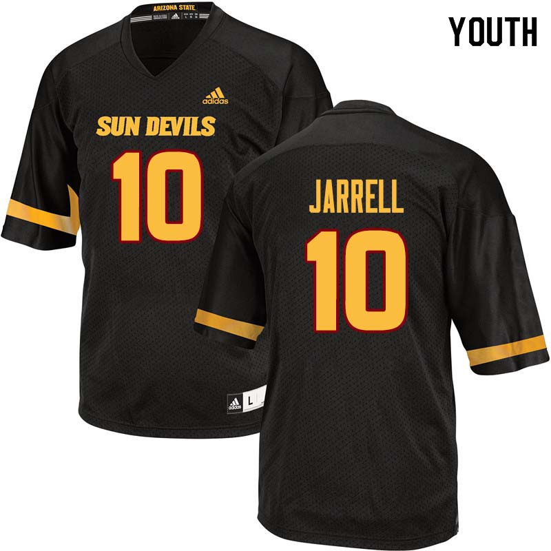 Youth #10 K.J. Jarrell Arizona State Sun Devils College Football Jerseys Sale-Black