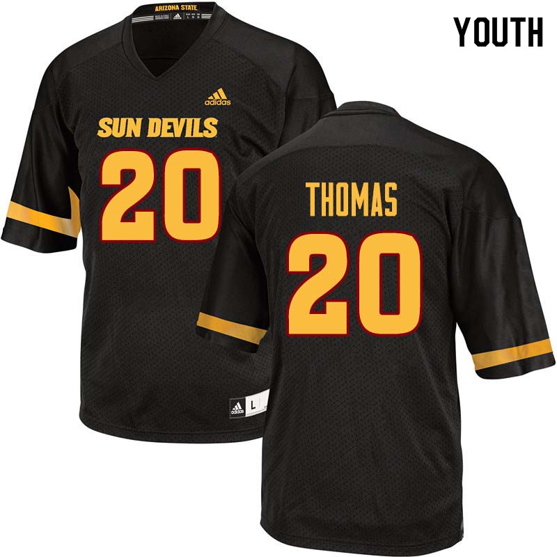 Youth #20 Khaylan Thomas Arizona State Sun Devils College Football Jerseys Sale-Black