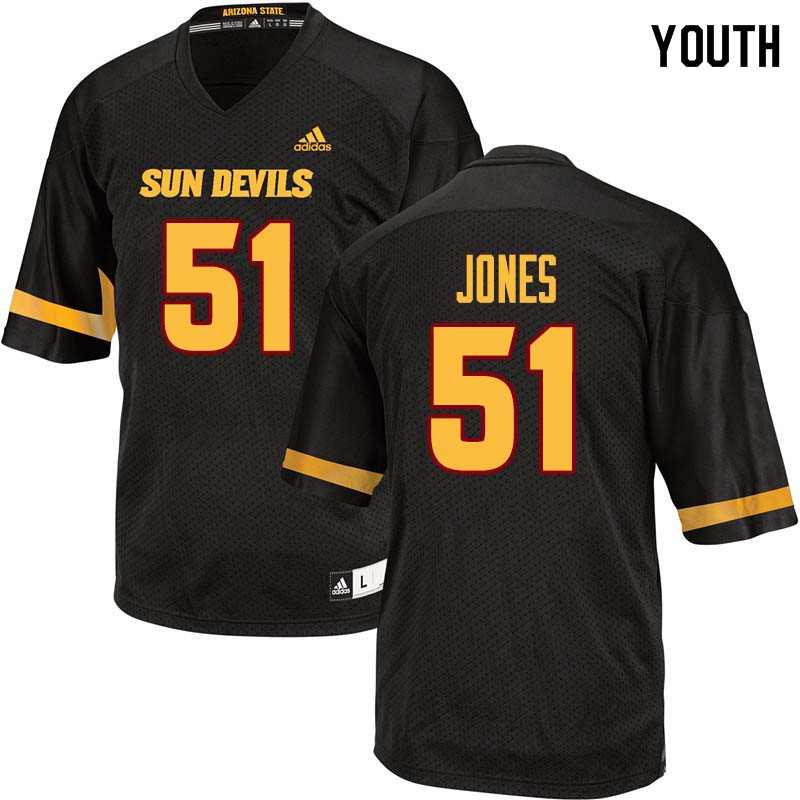Youth #51 Kyle Jones Arizona State Sun Devils College Football Jerseys Sale-Black