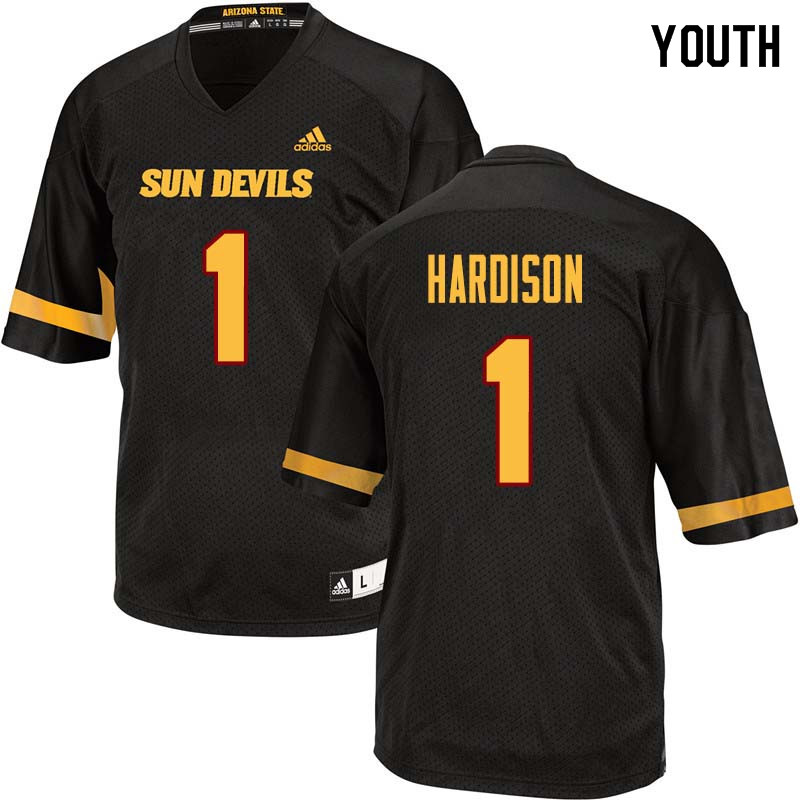 Youth #1 Marcus Hardison Arizona State Sun Devils College Football Jerseys Sale-Black