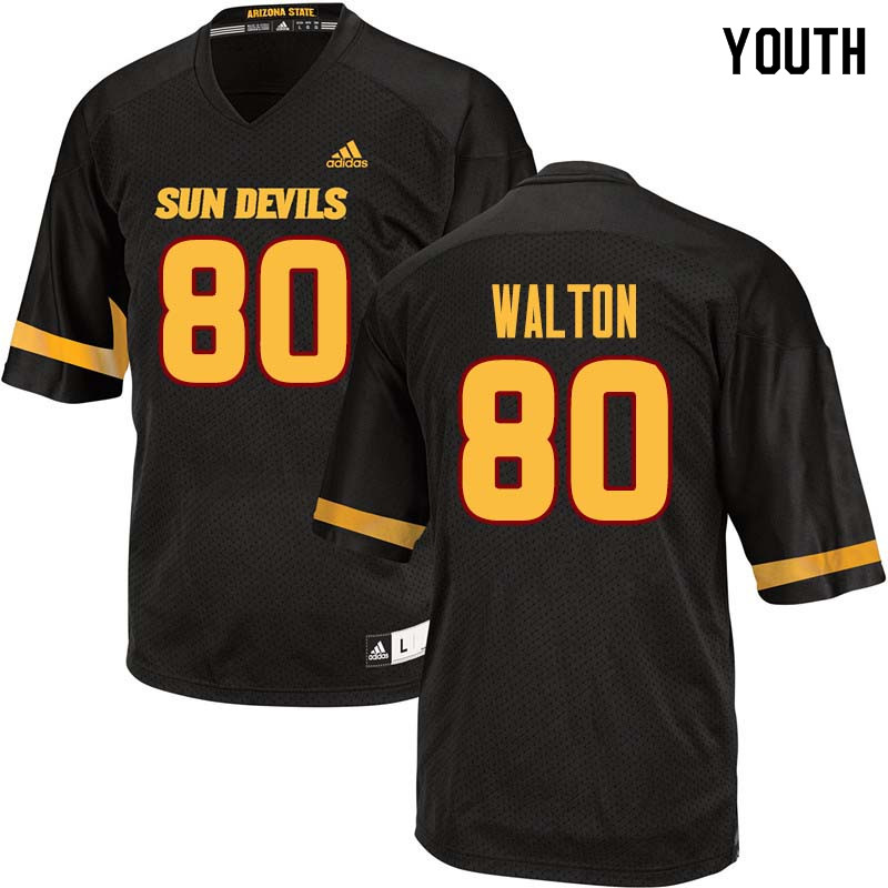 Youth #80 Mark Walton Arizona State Sun Devils College Football Jerseys Sale-Black